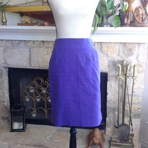 J Crew purple The Pencil Skirt with pockets